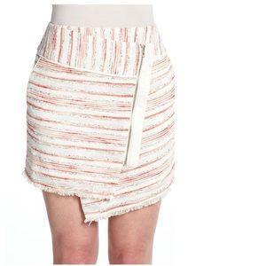 W118 Walter Baker Bee Skirt Frayed Asymmetrical